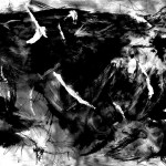 Study of The Little Death #1-Ink on Paper-(painting 1)-2006-13.4 x 33.1 in (A1 paper)